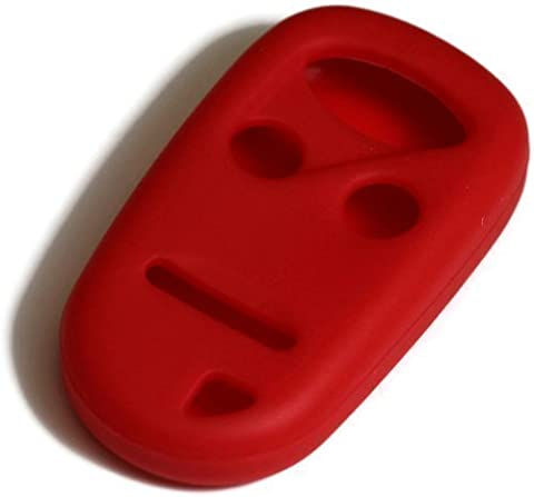Red Silicone Key Fob Cover Case Smart Remote Pouches Protection Key Chain Fits: Honda S2000 00-10 by DanteGTS