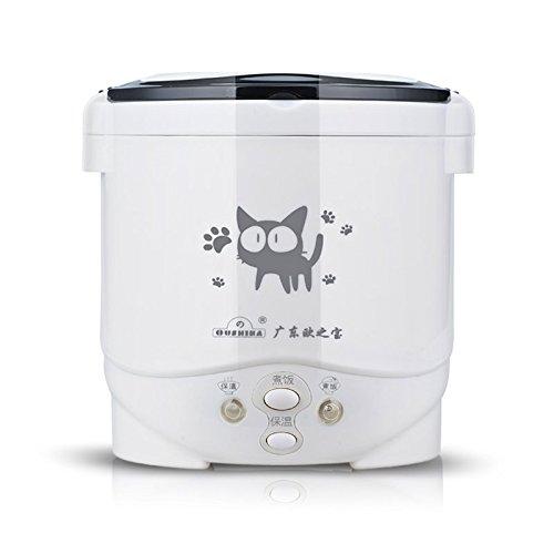 Mini cocina de arroz eléctrica portátil, 24 V para camión, placa de acero inoxidable, olla interior antiadherente, 1.0 L Mini arrocera para 1 - 2 personas
