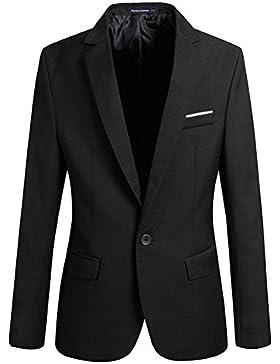 Hombres 4 Colores Chaqueta Slim Fit Business Chaquet Hombres Elegante Uno Botón Blazers Ligero Casual Trajes Capa...