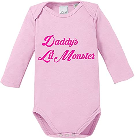EZYshirt® Daddy´s lil Monster Baby Body Longsleeve