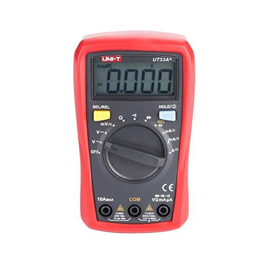 Multimetro Digitale LCD Portatile UNI-T 1999 Tensione Corrente Conteggi Amperometro Professionale Ohmmetro Voltmetro AC/DC Tester Diodo di Resistenza di Corrente(UT33C +)