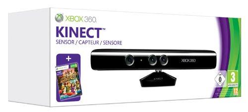 Microsoft Xbox 360, Kinect Sensor - Spielcomputertaschen u. Zubehör (Kinect Sensor, Schwarz) (Sensor Kinect 360)
