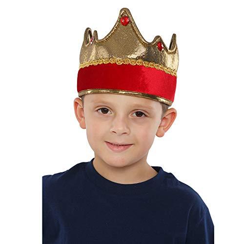 Zubehör Kostüm Crown Kings - Dress Up America 697.0 Kids Shiny Exquisite King Crown unisex-child Rot Einheitsgröße