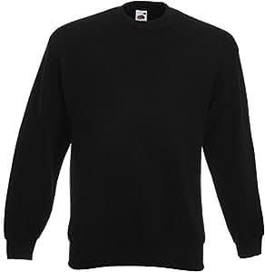Fruit of the Loom - Set-In Sweatshirt - schwarz - Größe: XXL