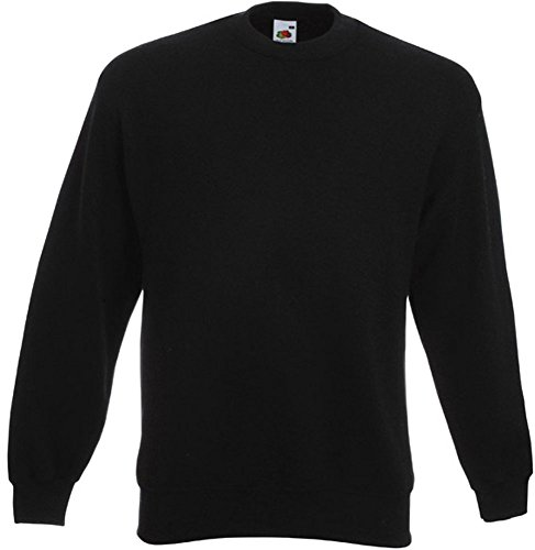 Fruit of the Loom - Set-In Sweatshirt - schwarz - Größe: XL