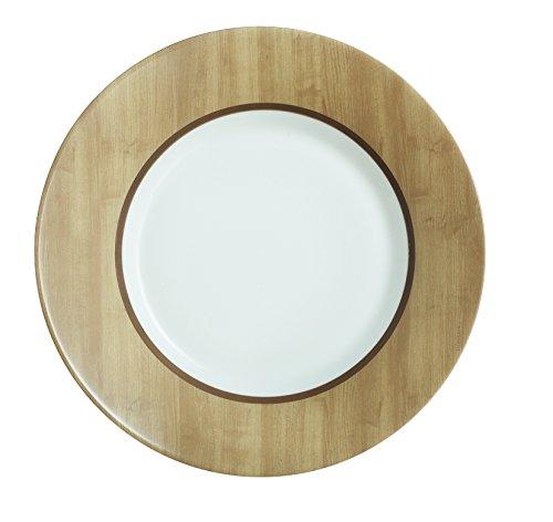Luminarc 8012779.0 Nordic Alpaga Lot de 6 Assiettes Dessert Opale Marron 22 x 22 x 2 cm
