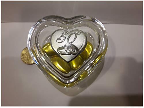 L'angolo barletta bomboniere 50 anni matrimonio nozze oro scatola portagioie fedi
