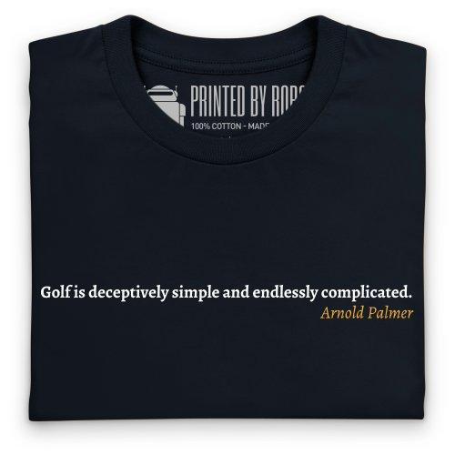 Arnold Palmer Quote 1 T-Shirt, Herren Schwarz