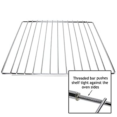 Spares2go Universal Chrome Adjustable Fixed Arm Grill Shelf for all Oven Cooker & Grill (310mm x 360 / 590mm) - cheap UK light store.
