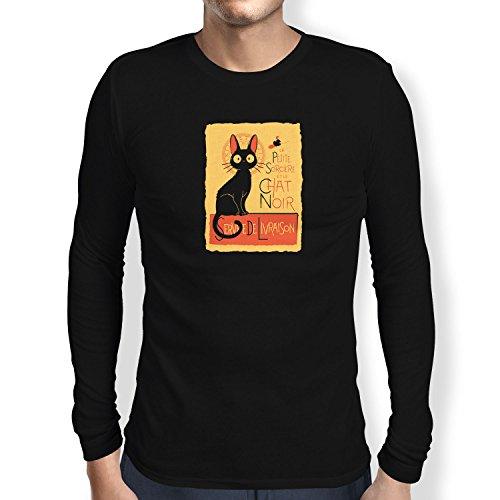 NERDO - Le Chat Noir - Herren Langarm T-Shirt, Größe M, (Kostüm Hexe Kiki)