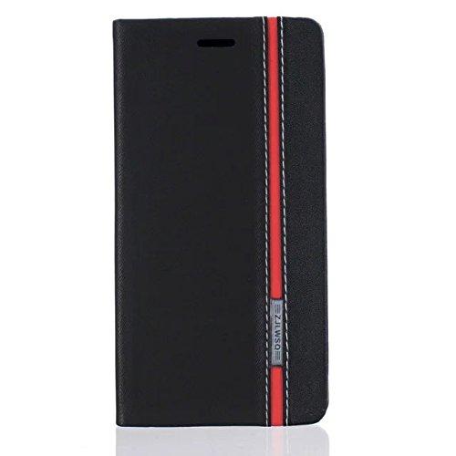 Para Xiaomi Mi Max 2 Funda , YIGA Módulo de color negro Diseño Flip Libro de PU Cuero Leather Protectora Case Cover Caso con Cierre Magnético Función de Soporte Billetera Tapa Carcasa para Xiaomi Mi Max 2