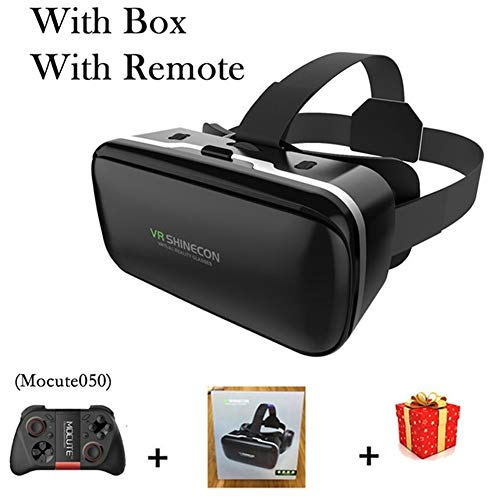 IN THE DISTANCE Brille-Kopfhörer-Sturzhelm VR 6.0 Casque Virtual Reality Glasses 3 D 3D Für Smartphone-Smartphone-Pappe (Color : with Box 050 Remote)