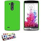 """Carcasa Rigida Ultra-Slim LG G3 S (LG G3 MINI) [Le """"Pearls"""" Premium] [Verde] de MUZZANO + ESTILETE y PAÑO MUZZANO REGALADOS - La Protección Antigolpes ULTIMA, ELEGANTE Y DURADERA para su LG G3 S (LG G3 MINI)"""