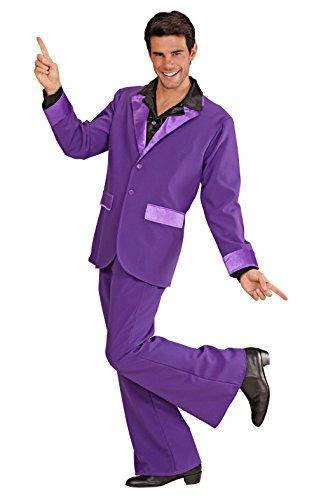 Widmann 74862 - Erwachsenenkostüm Partyanzug, M purple