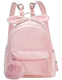 backpacks for girls latest | hand bag for women latest | college bags for girls Bow~Knot Velvet Mini Small Women Backpacks Womens Kids Girls Soft Velvet