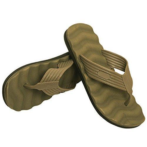 Tactical Badelatschen Zehensandalen oliv Pantoletten Sandalen Sommerschuhe Strandschuhe Hausschuhe Flippige Flops BW Army Us #20473 Oliv