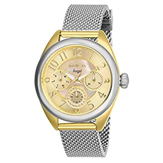 Invicta 27451 Angel Reloj para Mujer acero inoxidable Cuarzo Esfera oro