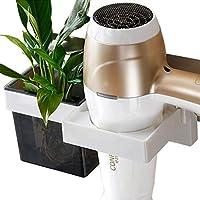 Itana multifunción Pared secador Almacenamiento Organizador secador Rack Soporte para secador,Soporte para secador de Pelo sin Agujeros