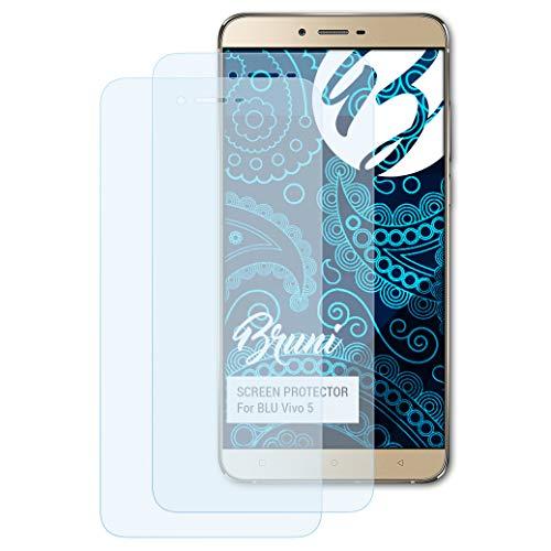 Bruni Schutzfolie für BLU Vivo 5 Folie, glasklare Bildschirmschutzfolie (2X)