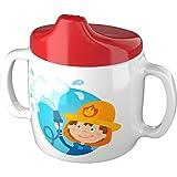 HABA Trinklerntasse Feuerwehr Tasse, weiß/hellblau