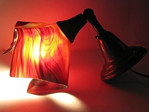 HUANGXIN&RAN Wandleuchte Lampe Bronze Fixture Mit Glasmalerei Schatten