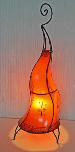 lampe-de-table-sole-au-henne-marocain-ronde-orange-60cm