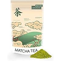 Tè verde Matcha Polvere 80g superfood per la perdita di peso , Perfetto per Chai Lattes , cucina, frullati , cocktail e cottura BRC alimentare certificato di sicurezza - Caffeina Erbe Caffè