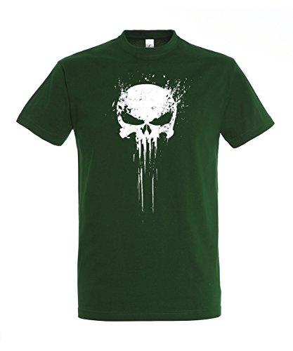 trvppy-t-shirt-a-logo-col-rond-manches-courtes-homme-vert-xxxx-large