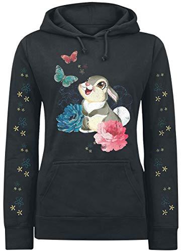 Bambi Klopfer - Blumen & Schmetterlinge Kapuzenpullover schwarz S