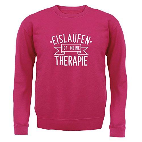 Eislaufen ist meine Therapie - Kinder Pullover/Sweatshirt - Pink - S (3-4 Jahre)