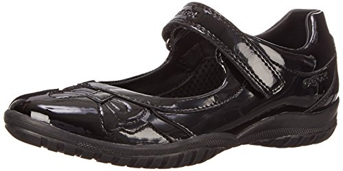 Geox Girls' Jr Shadow A Ballet Flats, Black, 13 UK