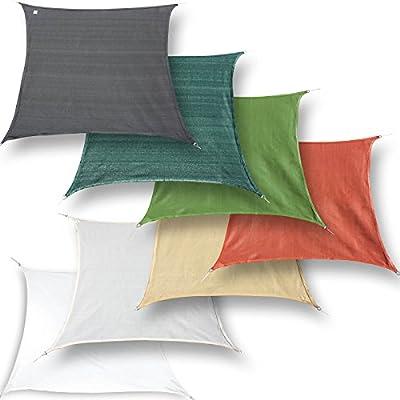 hanSe® Marken Sonnensegel Quadrat 2,5x2,5 m verschiedene Farben von hanSe bei Gartenmöbel von Du und Dein Garten