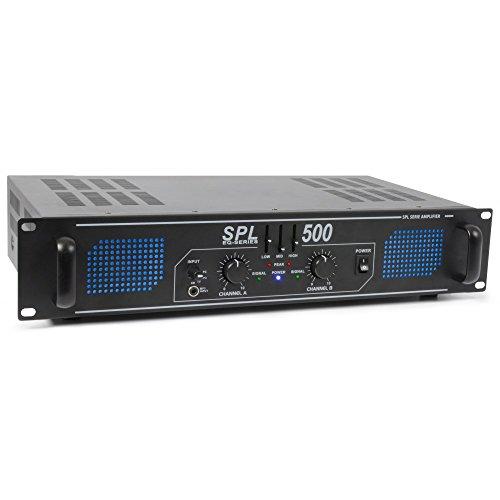 Skytec SPL 500 2.0Kanäle Haus Verkabelt Schwarz - Audioverstärker (2.0 Kanäle, 0,5%, 95 dB, 250 W, 82 dB, 775 mV)
