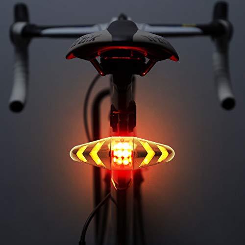 MASO, fanale Posteriore a LED per Bicicletta, con Telecomando Wireless, Ricaricabile, Multifunzione, Impermeabile, Luce di Avvertimento per Mountain Bike, Bici da Strada