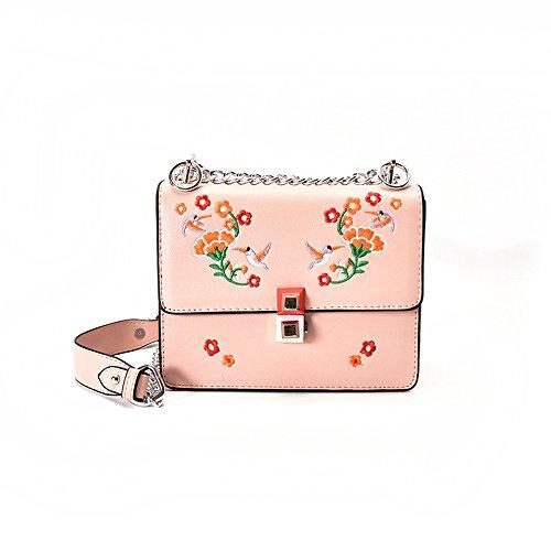 Meoaeo Schultertasche New Tide Freizeitaktivitäten Xiekua Paket Schulter Pu-Alle-Match Fashion Lady Bag Pink Pink