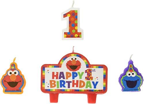 Amscan 171835 Sesame Street Birthday Candles Geburtstagskerzen, Wachs, ()