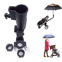 Muttify - Soporte universal para paraguas, 15 mm, 25 mm, 30 mm, 38 mm, mango opcional, tamaños para carrito de golf, bicicleta, cochecito de bebé, silla de playa de pesca, silla de ruedas con marcos redondos, tamaño: 15 mm – 58 mm
