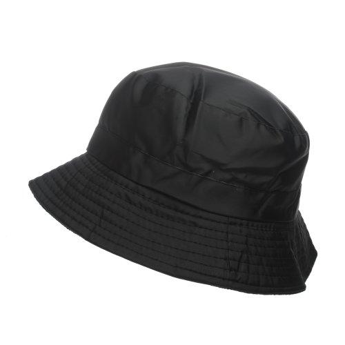 Uomo Nero Nero//Bianco Taglia unica Accessoryo Cappello alla pescatora Cappello