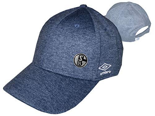 Umbro FC Schalke 04 Cap Jersey Melange blau S04 Fan Basecap Fußball Kappe Mütze, Größe:OSFA (Adult)