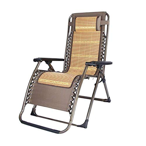 ZHANG Chaise-Chaise Pliant Sun Lounger Zero Gravity inclinable Relax Coussin Cool rembourrer