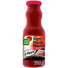 SUZI WAN Sauce froide à dipper Aigre Douce Pimentée 350 g pour entrées ou apéritifs- Pack de 12 unités