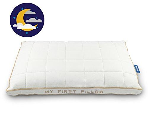 Kinder Kopfkissen 40x60 ab 1 Jahre - Soft, Gesund, Hypoallergen Babykissen für alle Schlafpositionen - Kinderkissen nach ÖKO TEX STANDARD 100 zertifiziert (My First Pillow)