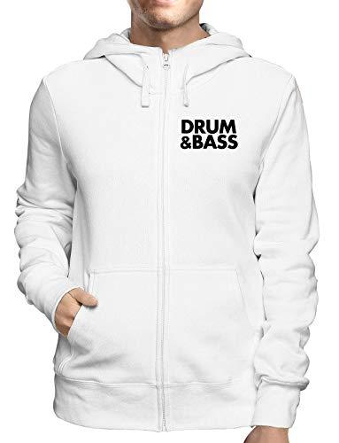 Sweatshirt Hoodie Zip Weiss WTC0868 Drum Bass