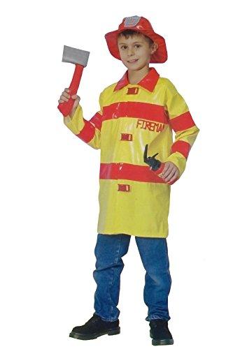 Islander Fashions Jungen Feuerwehrmann Kost�m Kost�m Kinder Notfall Feuerwehrmann Uniform Outfit Medium 7-9 Jahre