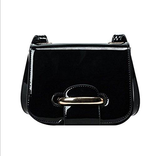 Art Und Weise Einfach Damen Klein All-Spiel Arbeit Einkaufen Geneigte Schulterbeutel Taschen Black