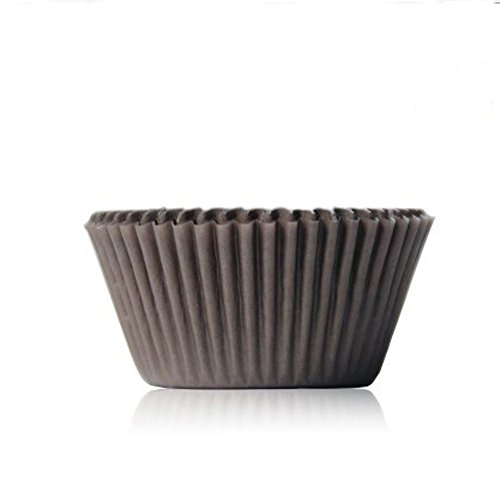 asentechuk® 100Stück Muffin Cupcake Papier Tasse Schokolade Ölfest Papier Kuchen Backblech Form 5 x 3cm coffee (Cupcake Brown Ein Stück Kuchen)