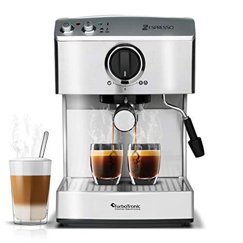 15 Bar Siebträgermaschine für Kaffee & Espresso, Milchaufschäumer, Elektrische Espressomaschine, Kaffeemaschine (Cappuccino-und Kaffee-maschine)