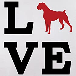 Love Boxer Dog Silhouette - Unisex Hoodie / Hooded Top - 12 Colours