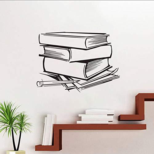 ponana adesivi murali libri modello decorazione della casa stickers murali adesivo in vinile adesivo per camera da letto per bambini 44x60cm