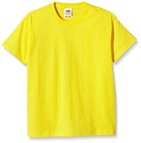Fruit of the Loom Ss028b, Camiseta para Niñas, Amarillo 7-8 Años